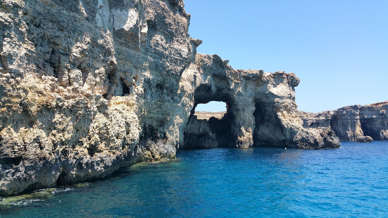 Rocks and Caves at Comino