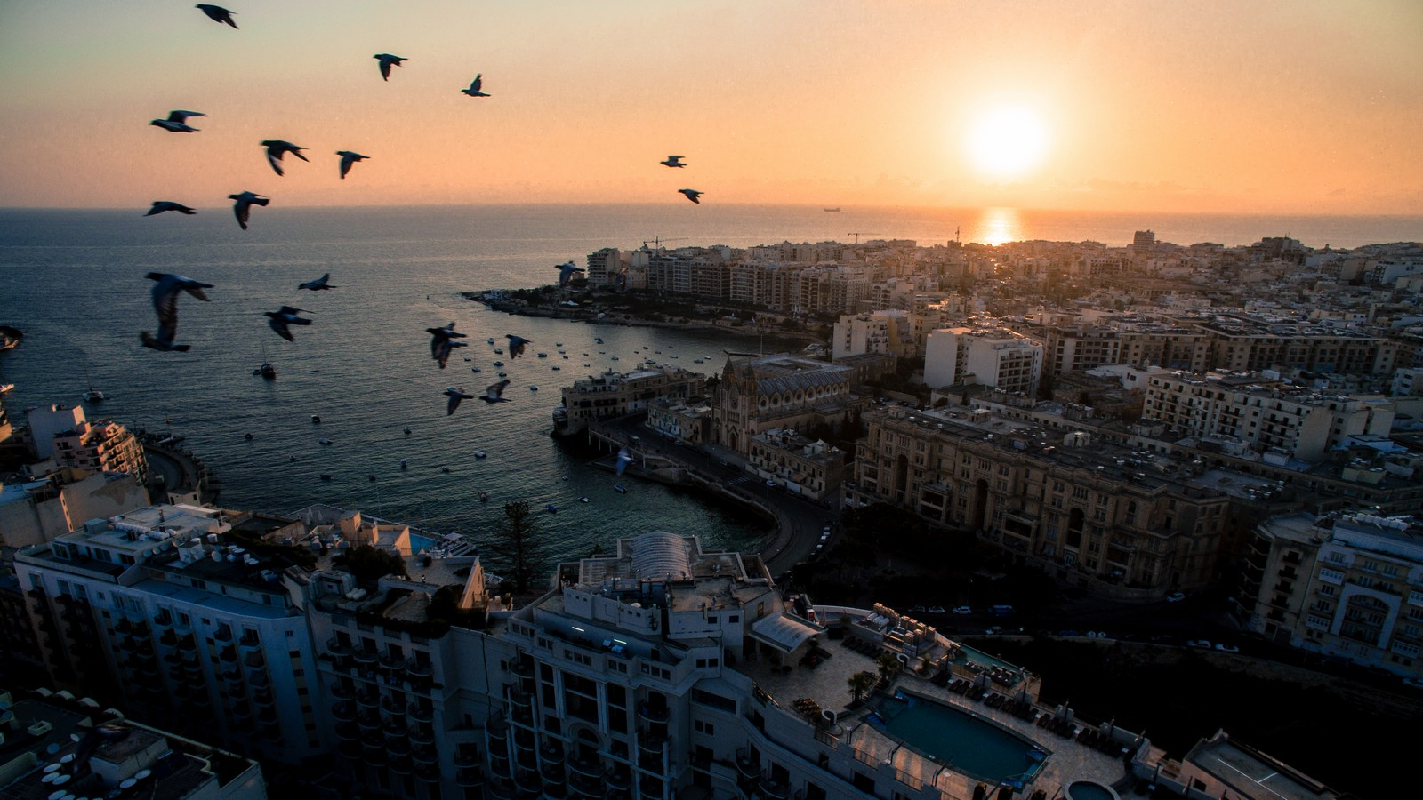Sunrise at Le Meridien Malta