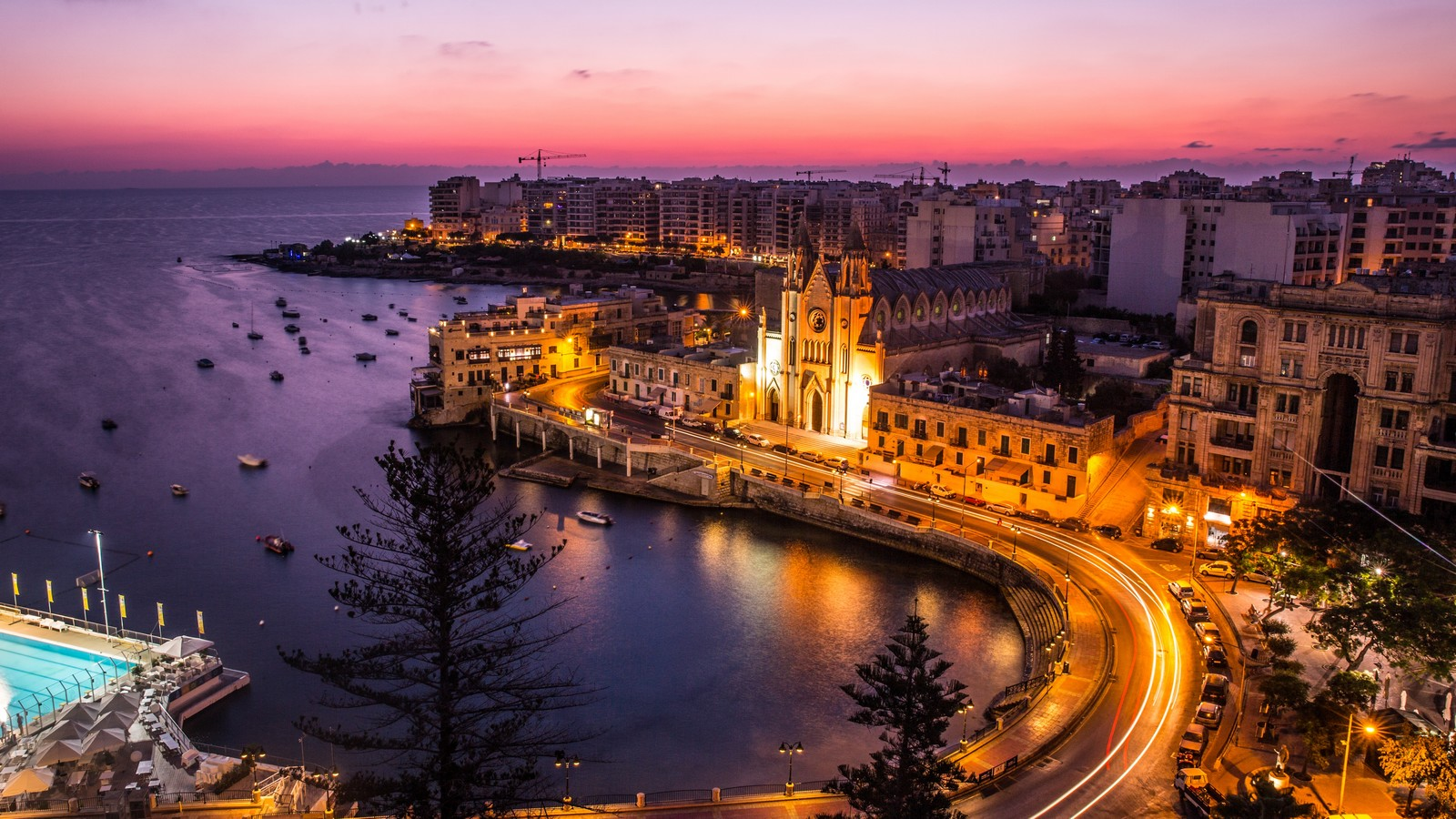 Sunset at Le Meridien Malta